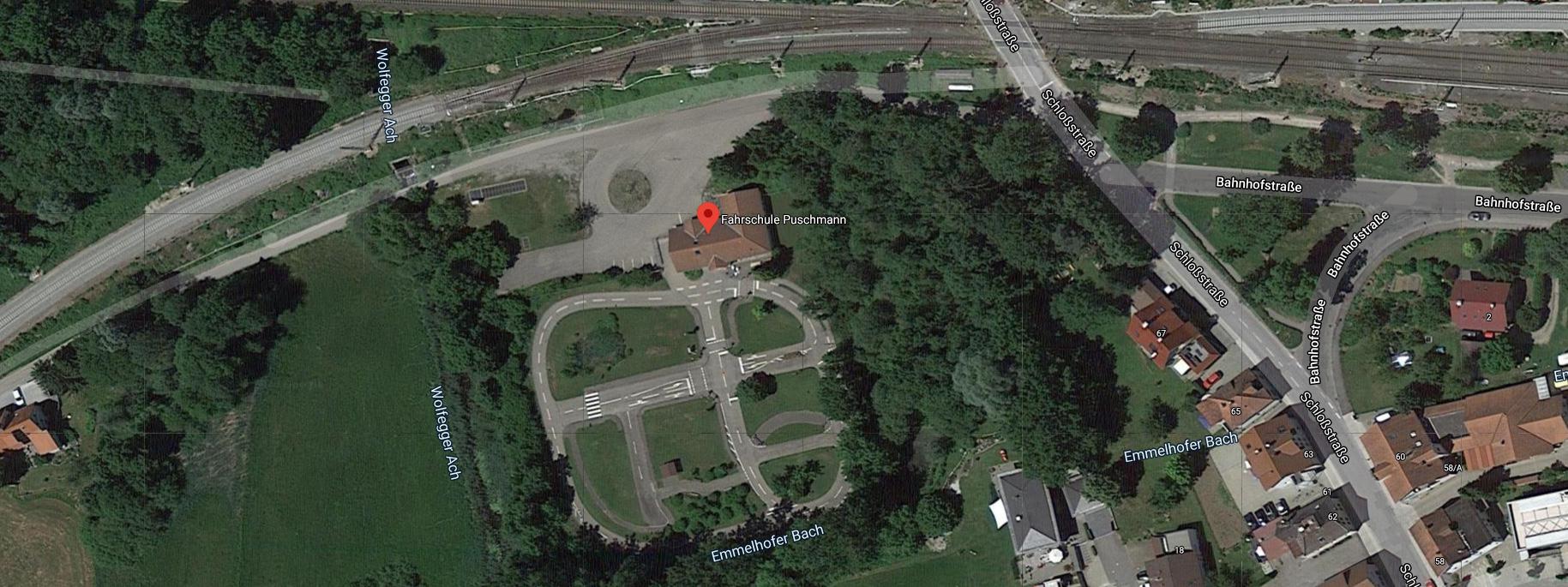 Unser Standort in Kißlegg von oben (Googlemaps)