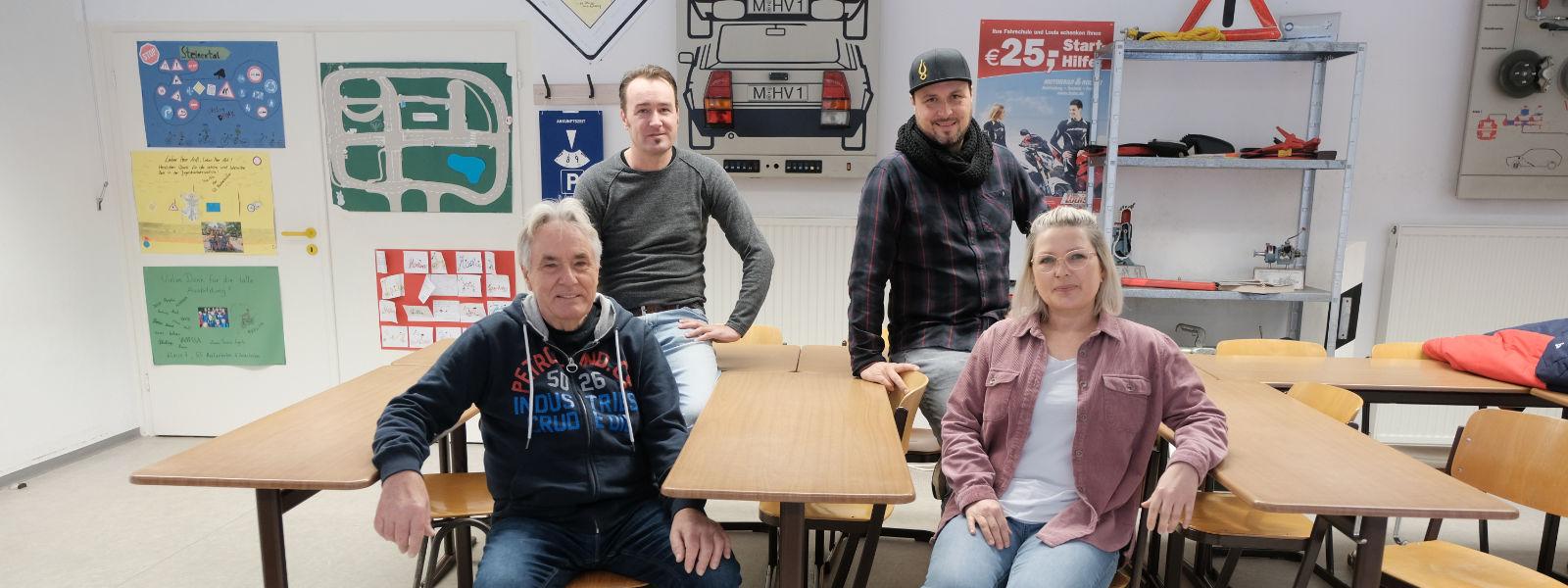 Peter, Oli, Jens und Tanja in Kißlegg.